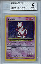Mewtwo #10 Pokemon Base Unlimited Variant BGS 6 EX-MT+  Holo Card Error 5301