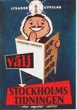 Original vintage poster Stockholm Newspaper Light Up 1958