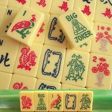Crisloid, Vtg 1960s Mahjong Set, 164 Tiles, Mahjong Set, Racks, Case, Mah Jongg