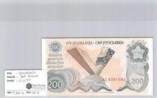 BILLET YOUGOSLAVIE - 200 DINARA - 1.1.1990