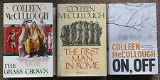 COLLEEN MCCULLOUGH - A COLLECTION OF 3 HARDCOVER BOOKS - HC D/J - FICTION