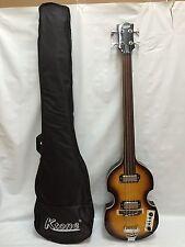 Violin Bass Sunburst, 4 String Bass, Gig Bag, Brand New