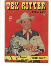 Tex Ritter Western #5 1951 Photo Cover-Bullet Trail!