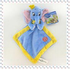• - Doudou Peluche Dumbo Mouchoir Bleu Jaune Ballon Etoiles  Disney Nicotoy