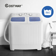 5KG Portable Mini Compact Twin Tub Washing Machine Washer Spin Dryer 300W