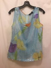 Luisa Spagnoli 2piece Skirt/Sleeveless Blouse Suit Sequined Lined Womens Size 44