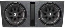 Pair Kicker 10C154 15-Inch 1000W Comp Subwoofers With Vented Dual Subwoofer