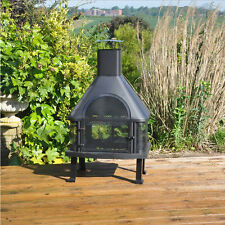 Kingfisher Log Burner Garden Chiminea BBQ Barbecue Outdoor Heating 109cm High