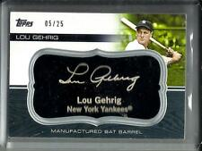 Lou Gehrig 2010 Topps Manufactured Bat Barrel #05/25