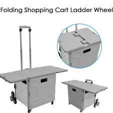 Portable Grocery Cart Collapsible Shopping Cart Multifunctional Use Load 155 Lbs