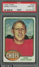 1976 Topps #248 Jerrel Wilson Kansas City Chiefs PSA 10 GEM MINT