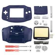 Replacement Solid Blue Full Housing Shell for Nintendo Gameboy Advance GBA