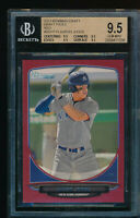 BGS 9.5 AARON JUDGE 2013 Bowman Draft Picks RED PARALLEL Rookie RC #/5 GEM MINT
