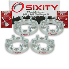"""4pc 1"""" Wheel Spacers Toyota Tacoma Truck Adapters Lugs Studs 6x5.5 tr"""