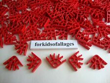100 KNEX RED CONNECTORS 3-Position Bulk Standard Replacement Parts / Pieces Lot