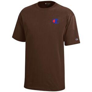 Champion Reverse Weave Logo Youth (Brown) Short Sleeve T-Shirt