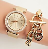 Original Michael Kors Uhr Damenuhr MK3368 Darci Meshband  Farbe:Gold NEU