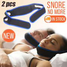 2x Stop Snoring Strap Adjustable Anti Snore Chin Belt Devic Sleep Apnea Stopper