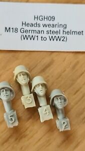 hornet Resin Models 1/35th Scale WW2 German  Heads various panzer officer camo