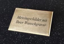 MESSINGSCHILD Türschild - rechteckig 80x50mm selbstklebend - mit Wunschgravur