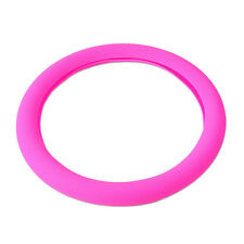 Rose pink Silicone Car Steering Wheel Cover fits Chevrolet Dodge Nisssan VW GMC