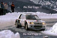 Ari Vatanen Peugeot 205 Turbo 16 Winner Monte Carlo Rally 1985 Photograph 2
