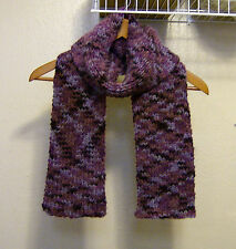 Wrap/Scarf/Neck Warmer--Purple/Blue Variegated- Handmade Knitted