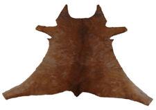 """Cowhide Rugs Calf Hide Cow Skin Rug (28""""x28"""") Brown CH5426"""