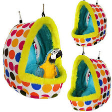 Sleep Bird Hut Toy Cotton Nest Pet Hammock Hang Cave Bed Parrot Tent Cage Warm