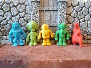 Lot of VINTAGE DIENER ERASER MONSTERS ALIENS MEDUSA MINOTAR DRAGON Halloween 80s