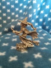 Vintage Pewter Wizard Of Oz Figurine Flying Witch Comstock 6225 Cci