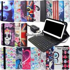 Universal Folio Leather Stand Cover Case With Keyboard For Various Tablet + Pen