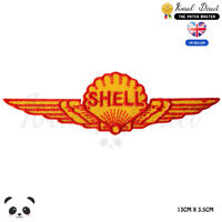 Shell Racing Sponsor Logo Embroidered Iron On Sew On Patch Badge For Clothes etc