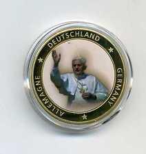 Farb Medaille Historisches Europa Deutschland Papst Benedikt XVI M_243