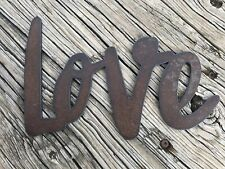 Rustic Metal Wall Art Love Heart Farm Antique Home Saying