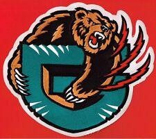 VANCOUVER GRIZZLIES NATIONAL BASKETBALL ASSOCIATION DEFUNCT NBA TEAM LOGO PATCH