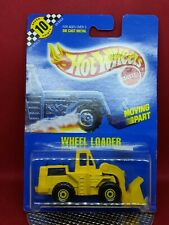 1990 Hot Wheels 1979 OLD blue card moving parts yellow CAT Wheel Loader #3