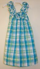 New In Bag Kelly's Kids Cece Turquoise Plaid Sun Dress Girl's Sz 2 ~ Cute