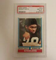 1974 Topps Football #246 Dwight White PSA 8 (OC) Pittsburgh Steelers