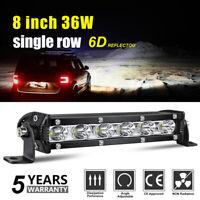 "8"" 36W barre de led light bar Phare de travail 4x4 Singal Rampe Offroad 12V 24V"