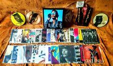 "GRACE JONES  7"" VINYL SINGLES + PICTURE DISC COLLECTION / LOT + COLLECTOR BOX"