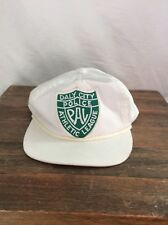 Vtg Daly City Police Pal Team White Hat-Rope Bill-Snap back athletic league