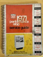 Phillips 66 1971 Performance Check Service Guide. Covers Domestic & Import cars