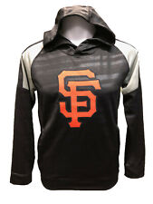 San Francisco Giants Youth Boys Clubhouse Pullover Hooded Sweatshirt - Black