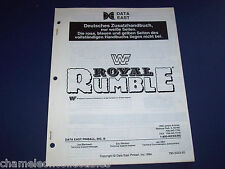 Wf Royal Rumble By Data East 1994 German Pinball Machine Service Repair Manual