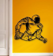 Wall Stickers Vinyl Decal American Football Player for Sports Fans (ig591)