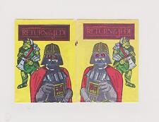 2 RARE Gum Star Wars WRATH OF KAHN ROTJ Card Wrappers Darth Vader C3PO R2D2