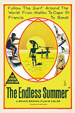 Surf Classic:  * ENDLESS SUMMER *  Australian   Poster 1966 Large Format 24x36