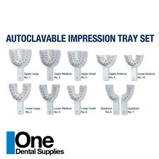 Dental Impression Tray Set Autoclavable 10 pcs