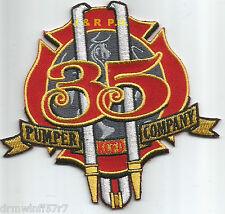 "Kansas City  Pumper Company - 35, MO  (4"" x 4"" size) fire patch"